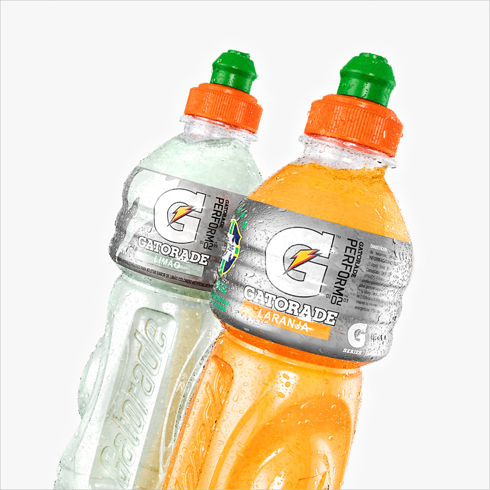 Thumbnail - Gatorade 3D bottles with droplets